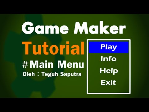 GameMaker tutorial membuat main menu