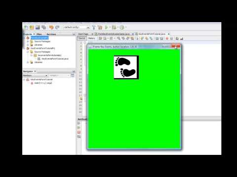 1 of 6: Capturing key presses and moving a button on a panel tutorial