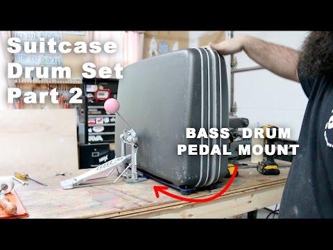 Suitcase Drum Set: Pedal Mount