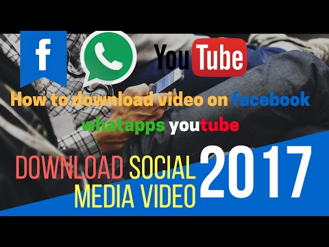 How to download Facebook video , dailymotion, whatsapp on Android mobile  (HTU)