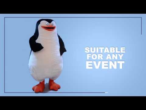 Smiling Sailor Penguin Mascot Costume