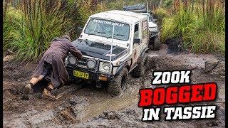 Budget Suzuki bogged in TASMANIA • Crazy 4WDing action