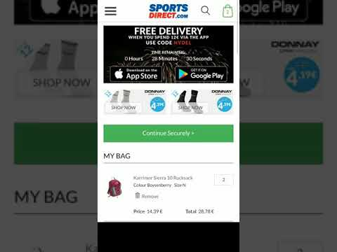 SportsDirect.com Cheating with free shipping. Promotional code does not work. We were deceived.