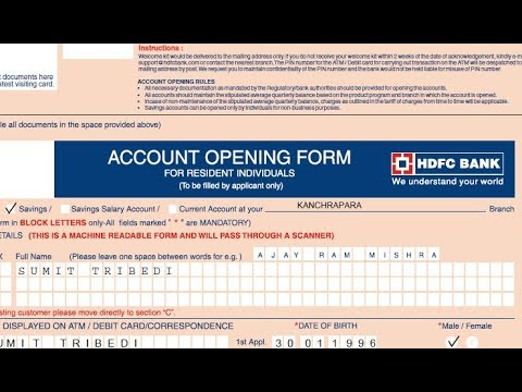 How to fill Account Opening form of HDFC bank ? || Simplified in Hindi