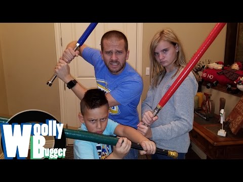 HOW TO BUILD YOUR OWN JEDI LIGHTSABER!! LUKE SKYWALKER & DARTH VADER!!