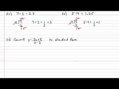 Rational Function General to Standard Form