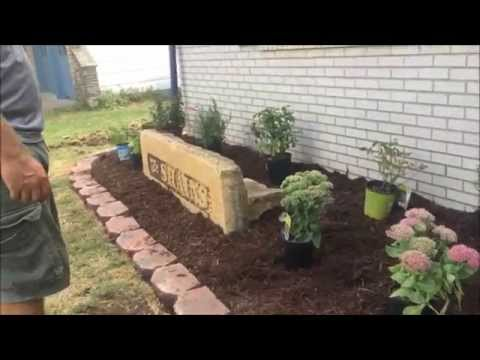 Family landscaping project - redo flower bed