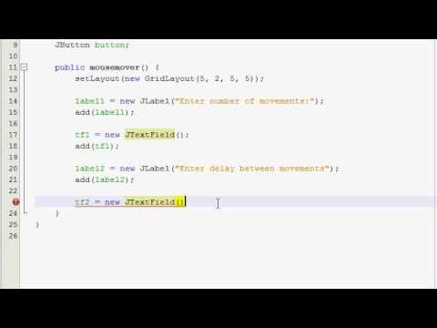 Java GUI Tutorial 11 -  Virus mouse mover (Part 1)