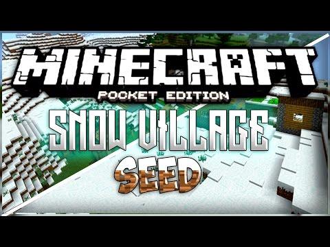 MCPE SNOW VILLAGE SEED! - 1.0.3 BLACKSMITH VILLAGE! | Minecraft Pocket Edition - Seed Reviews Ep.1