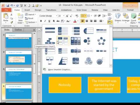 Create a SmartArt Graphic in PowerPoint 2013