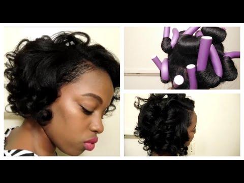 Overnight Heatless Curls/ Flexi Rod Takedown On Relaxed Hair