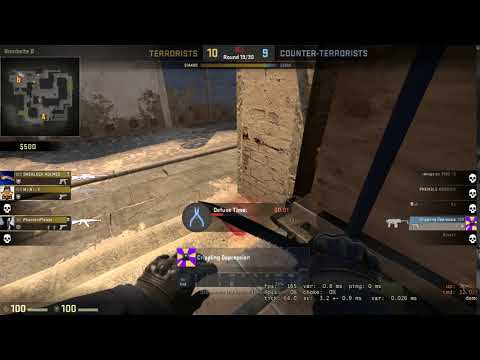 That best defuse ever . [3 players vs 1 have to defuse] CSGO in last sec