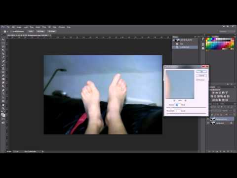 Removing scratches in Photoshop