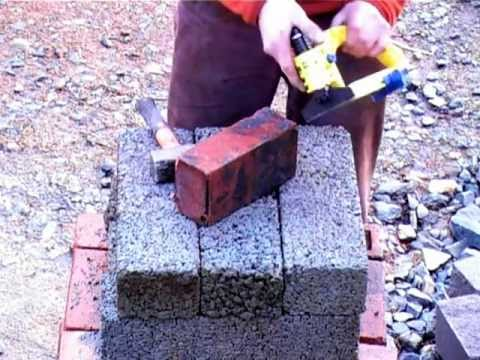 Angle cutting a brick , GREAT FOR PAVING SETS !