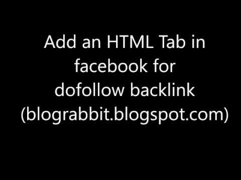 html tab for dofollow backlink from facebook