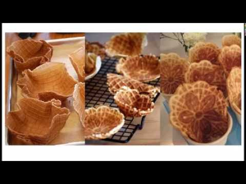 How to make waffle bowls? Waffle Ice Cream Cones Machine, Bowl Shape Cones, Cup Cones Machine