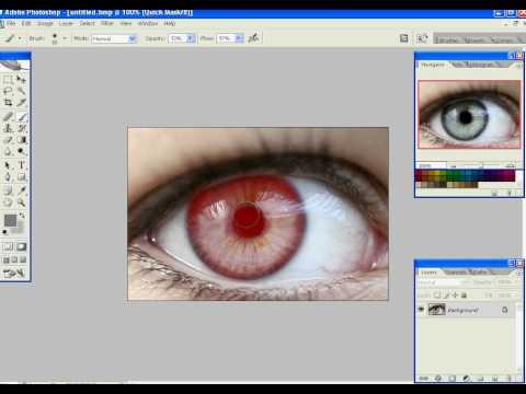 Change your eye color using Photoshop CS2