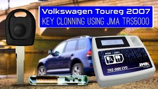 Volkswagen Toureg 2007 Key Clonning using JMA TRS5000
