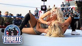 Charlotte Flair vs. Carmella vs. Ruby Riott - Triple Threat Match: WWE Tribute to the Troops 2017