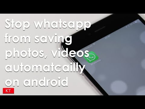 How to stop whatsapp from saving photos, videos automatically in android phone