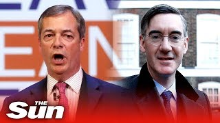 Farage and Rees-Mogg speak at Leave Means Leave rally
