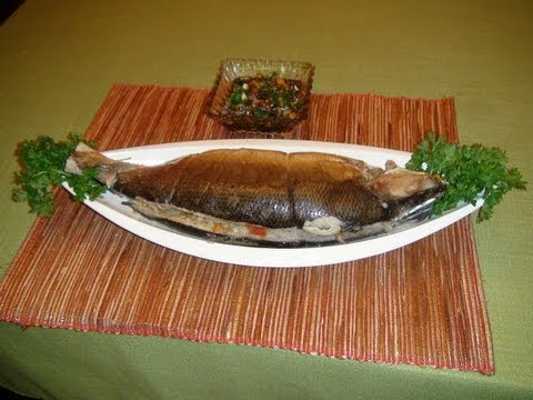 Pinoy recipe - How to Make Inihaw na Bangus [Grilled Milkfish with Stuffing]