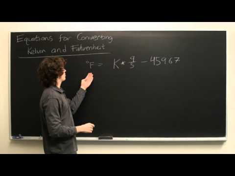 Equation for Kelvin to Fahrenheit