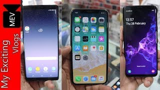 SMART PHONES AT RS.1200/- (IPHONE X, NOTE 8, IPHONE 6S, S9, OPPO F9 PRO, SONY XPERIA)