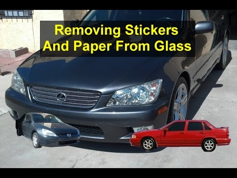 How to remove stickers or other things from glass, doors, car windows, etc. - VOTD