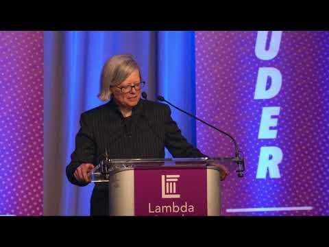 Anne Krook at Lambda Legal's 2018 National Liberty Awards