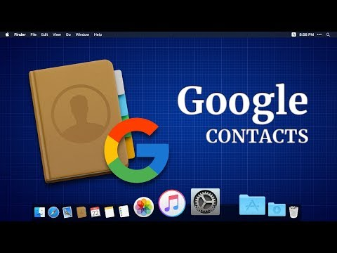 How to add Google contacts on MacBook (with Subtitles)