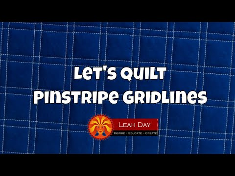 How to Quilt Pinstripes Gridlines - Fun Walking Foot Quilting Tutorial