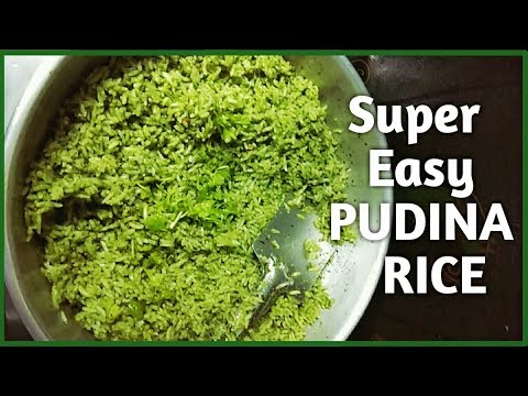 MINT RICE RECIPE | Super Easy Pudina Rice with Just 5 Ingredients