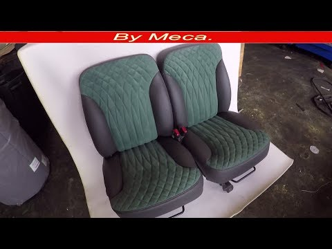 How to Make Custom Seat Covers Fade Out Diamonds DIY. home made.