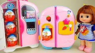 Kinder Joy and Baby Doll refrigerator Surprise eggs + Popcorn toys