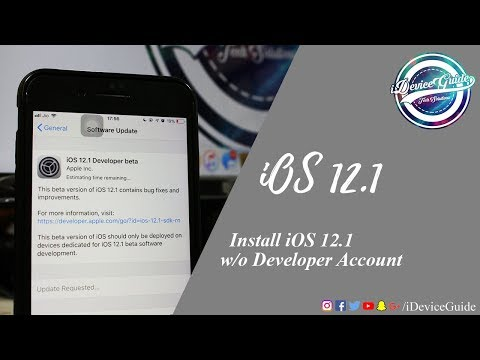How to Install iOS 12.1 without Developer Account
