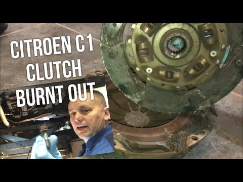 Citroen C1 Clutch Burnt Out, (Birds Nest), Had been Slipping/Smoking Hot, Full Job Diy