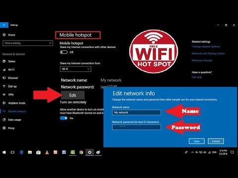 How to Change Wi-Fi Hotspot Name & Password in Windows 10