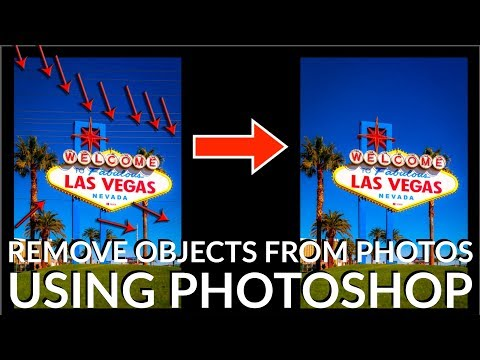How To Remove OBJECTS from Photos using PHOTOSHOP