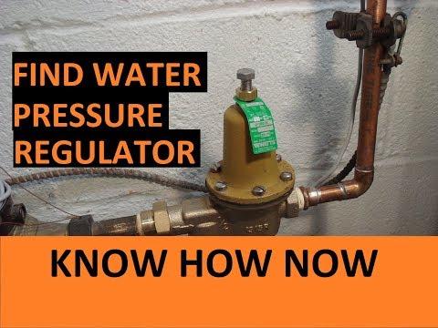 Where is Water Pressure Regulator Located?