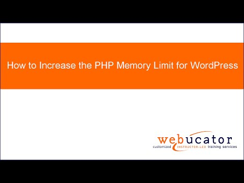 How to Increase the PHP Memory Limit for WordPress