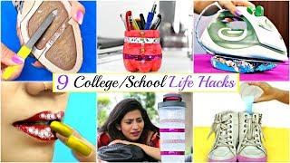 9 Amazing LIFE HACKS Every College/School Girls Must Know   Anaysa
