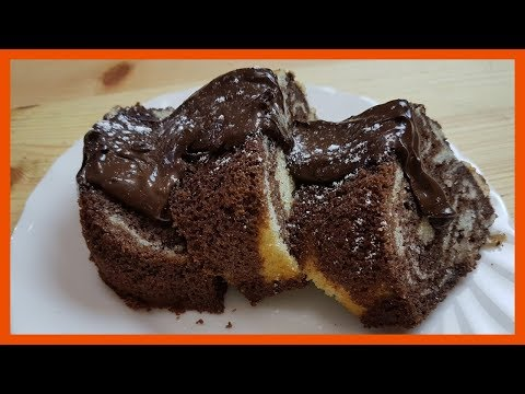 How to Bake Marble Cake | Easy Vanilla and Chocolate Cake Recipe