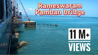 Pamban Bridge - Rameswaram - Train over the sea