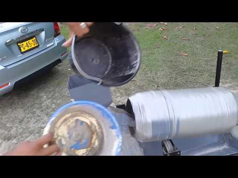 Self made portable Concrete mixer. 18.03.16