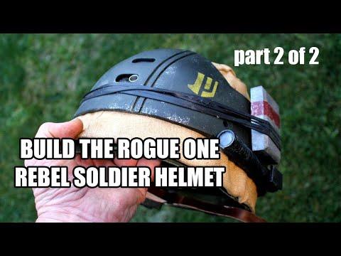 ROGUE ONE REBEL SOLDIER helmet Movie Prop Build-up TUTORIAL PART 2 OF 2