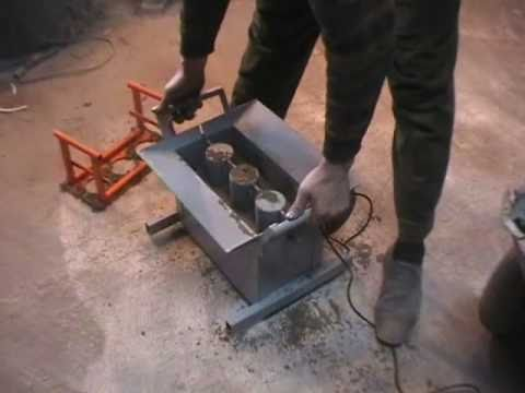 Concrete Block Making Machine BLOX-1 - DIY (Do It Yourself) - Homemade from drawings / Вибростанок