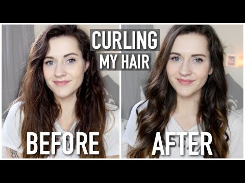 HOW TO CURL YOUR HAIR WITH A STRAIGHTENER FLAT IRON || EASY BEACHY CURLS HOW TO || HAIR TUTORIAL
