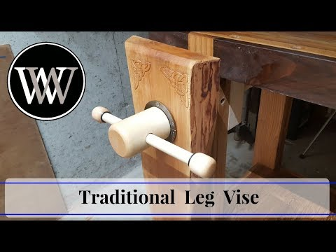 Making a Traditional Leg Vise With a Wooden Screw | Hand Tool Woodworking