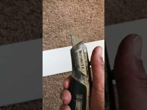 How to trim vertical window blinds